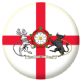 Northamptonshire Old Council Flag 25mm Flat Back
